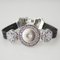 BRACELET - BLOOM MARCASITE LEATHER