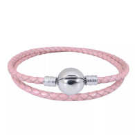 CB DBRACELET - DOUBLE LEATHER (PINK)