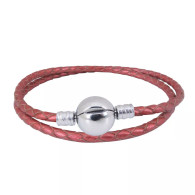 CB DBRACELET - DOUBLE LEATHER (RED)