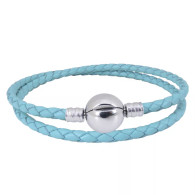 CB DBRACELET - DOUBLE LEATHER (TURQUOISE)