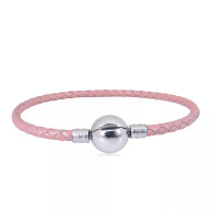 CB SBRACELET  LEATHER (PINK)