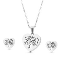 SET LUXE - VINTAGE TOL HEART (SS-SILVER)