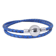 CB DBRACELET - DOUBLE LEATHER (NAVY)