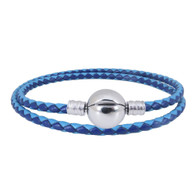 CB DBRACELET - DOUBLE LEATHER (NAVY-BLUE)