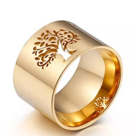 LUXE NATURE TOL RING (316L) S12 GOLD