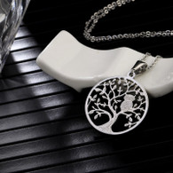 NECKLACE LUXE SS - BRANCH OWL (SILVER)
