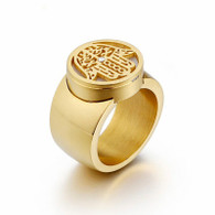 LUXE HAMSA RING (316L) S8 GOLD