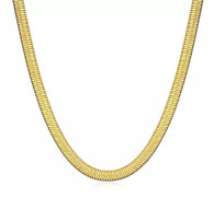 LUXE SS SNAKE FLAT CHAIN - GOLD