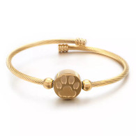 LUXE SS - WOOF LOVERS WIRE BANGLE (GOLD)
