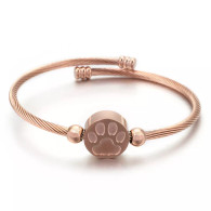 LUXE SS - WOOF LOVERS WIRE BANGLE (RG)