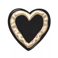 HEART - GOLD & BLACK