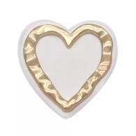 HEART - GOLD & WHITE