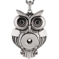 PENDANT - VINTAGE OWL (BLACK PAVE)