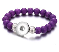 BRACELET - STRETCH NATURAL STONES (REALLY PURPLE)