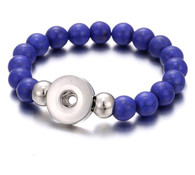 BRACELET - STRETCH NATURAL STONES (BLUE AVENTURINE)