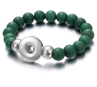 BRACELET - STRETCH NATURAL STONES (DARK GREEN)