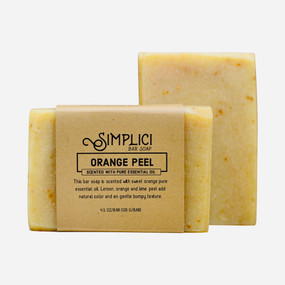 Simplici Orange Peel Bar Soap