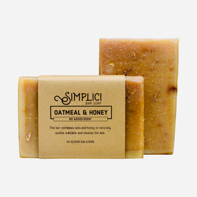Simplici Oatmeal & Honey Bar Soap (Unscented)