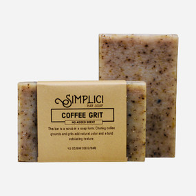 Simplici Coffee Grounds Bar Soap (Unscented)