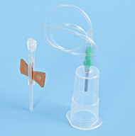 safety butterfly needle set with luer adapter