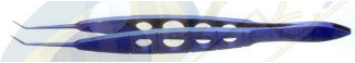 Castroviejo Tying Forceps - Titanium Blue - Straight