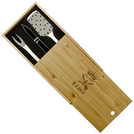 BBQ Set in Wooden Pine Box
