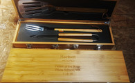 Bamboo BBQ Set in Bamboo Case