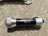 Personalized Engraved 5-LED Flashlight Keychain, Metal Keyring, Key FOB, Key Holder, Key Clip, Wedding Favors, Wedding Gifts, Groomsman Gift