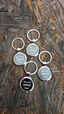 Personalized Black Keyring