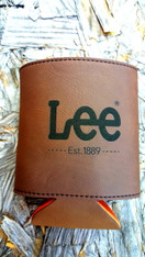 Personalized Leather Koozie Beverage Holder