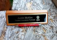 Red Alder Desk Name Plate