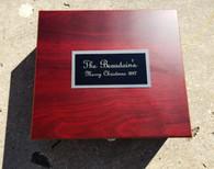 Personalized Engraved Rosewood Finish Martini Set, Drink Mixer Gift Set, Martini Shaker, Jigger, Strainer, Stirrer, Ice Tongs