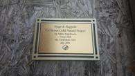 Gold Outdoor Plaque, Garden Plaque, Memorial Plaque, Dedication Plaque, Tree Plaque