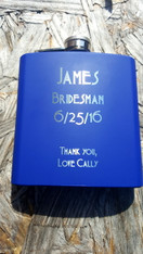 Personalized Blue Flask