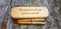Personalized Maple Wood Pen and Case