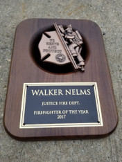 Personalized Engraved 9x12 Firefighter Plaque, Fireman Plaque, Firefighter Award Plaque, Corporate Award