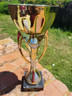"""New Beautiful Unique 12"""" Gold & Silver Metal Cup Trophy on Marble Base, Custom Trophy, Award Trophy, Sports Award, Party Favor"""