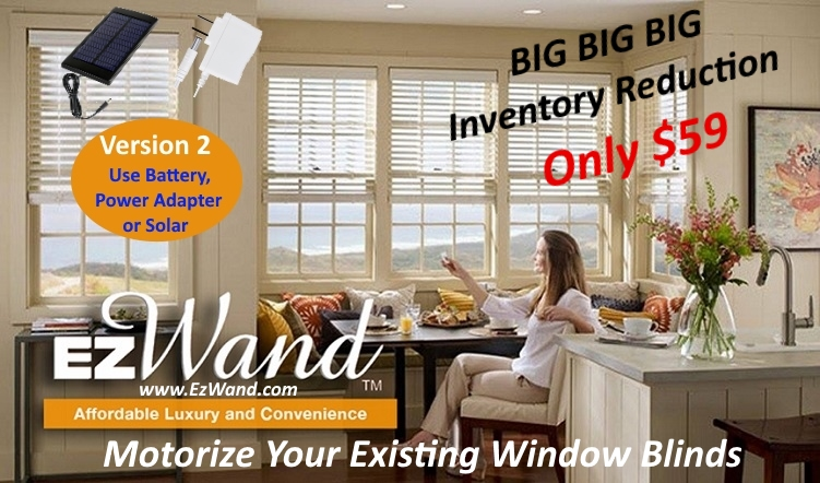 women sitting Alt-Text  Smart Blinds - EzWand Horizontal Family Room