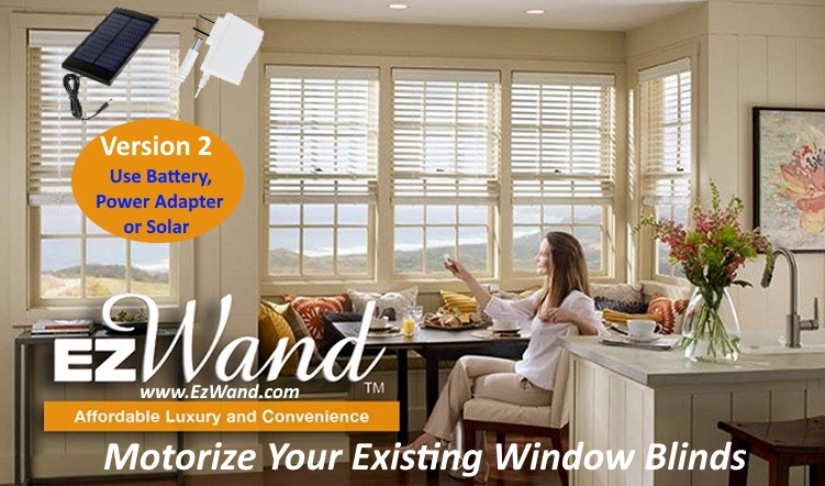 Smart Blinds - EzWand Horizontal Family Room