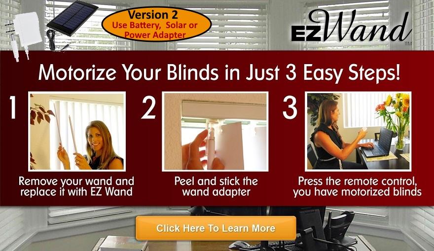 Smart Motorized Blinds Installation  EzWand