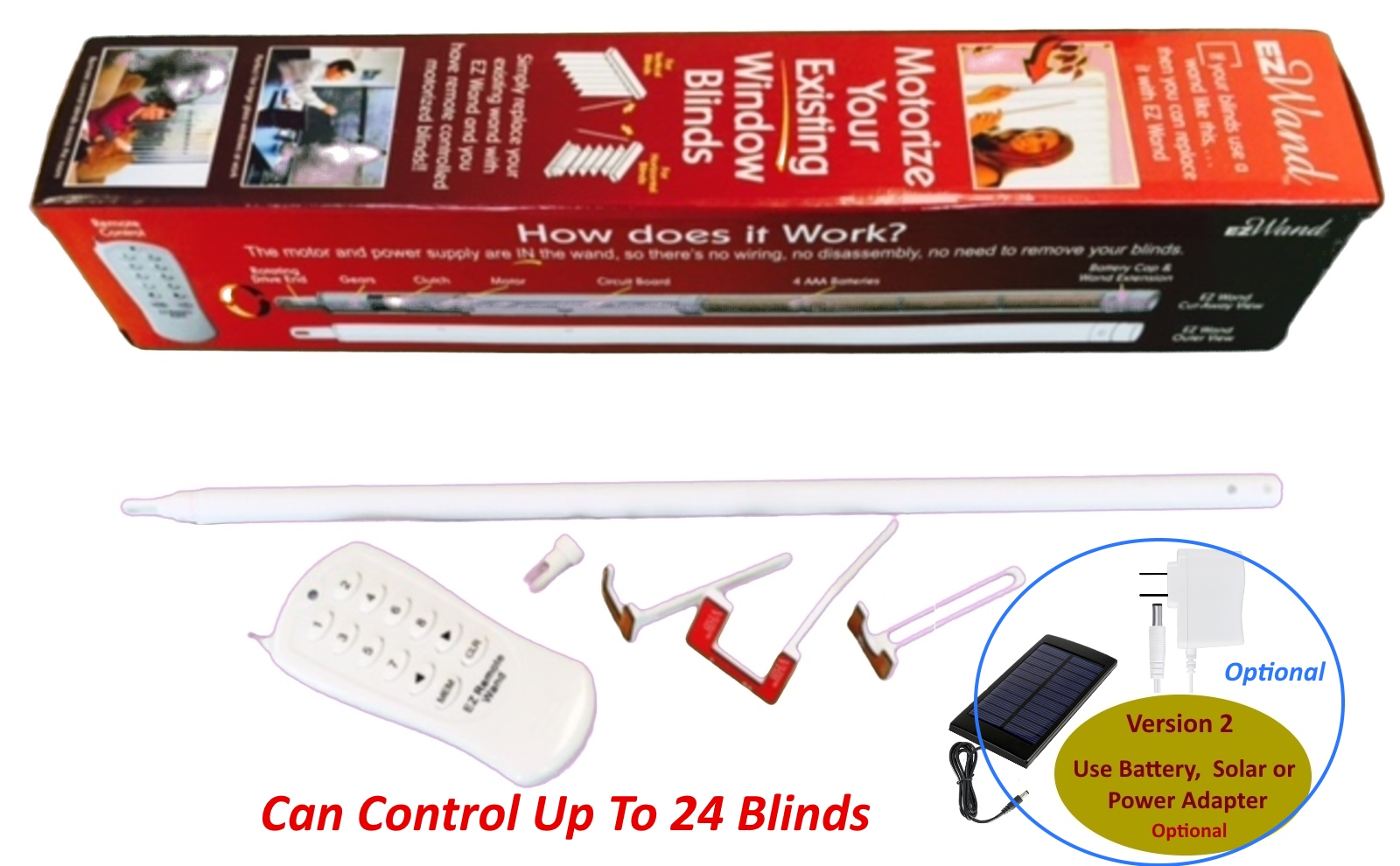 Motorized Blinds - EzWand Package