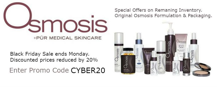 Osmosis Skincare Original Products Black Friday Sale