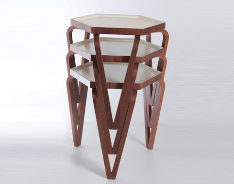 Orbis Nesting Tables (Cream)