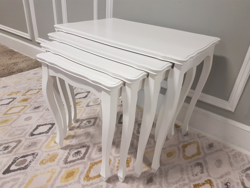 MFS109-WH Nesting Table - White