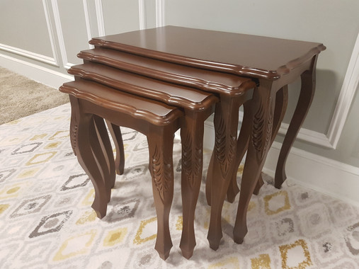 MFS145 Nesting Table - Natural Walnut