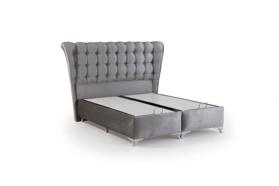 Kapris Storage Queen Bed -Gray