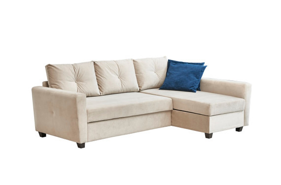 Matera Sleeper Sectional - Cream