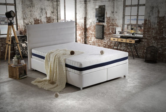 Tencel Queen Size Storage Bed