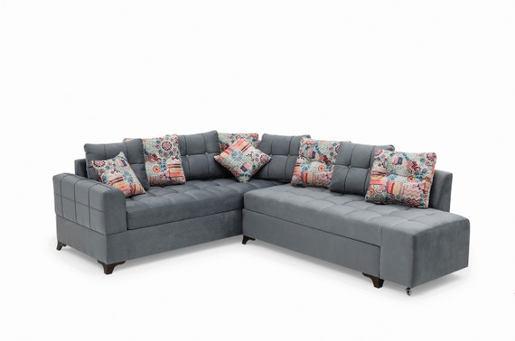 Sirma Sleeper Sectional with Storage - Gray