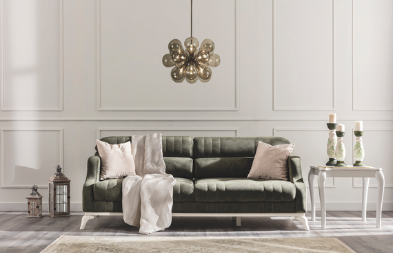 Arwen Sleeper Sofa with Storage - Green